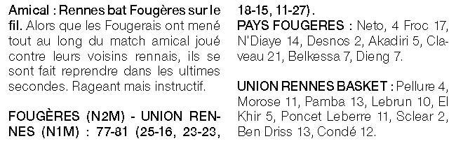 Article de presse Ouest-France du 3 septembre 2020