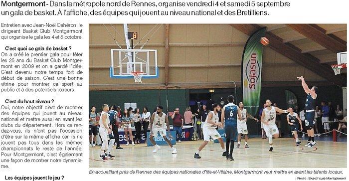 Article de presse Ouest-France du 4 septembre 2020