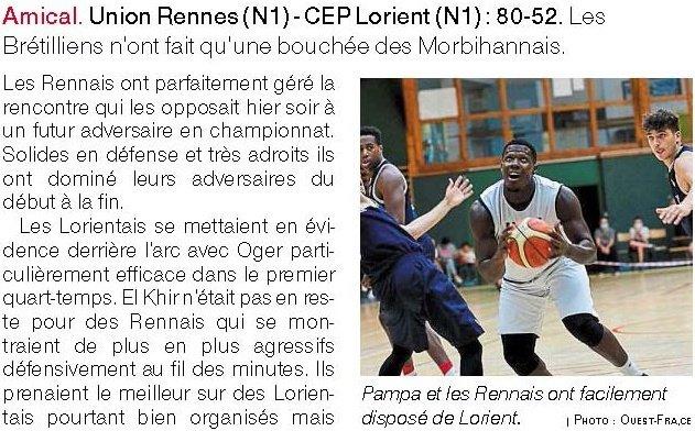 Article de presse Ouest-France du 6 septembre 2020