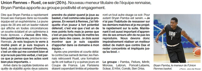 Article de presse Ouest-France du 6 octobre 2020